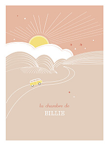 Affiche orange sunshine pêche