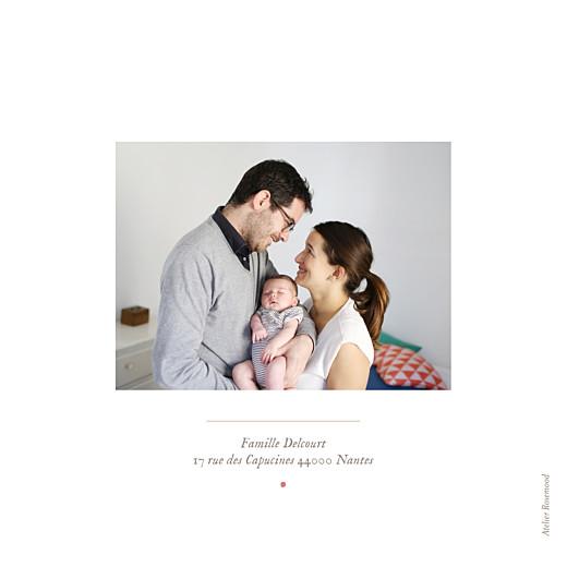 Faire-part de naissance Flamant rose 2 photos blanc - Page 4