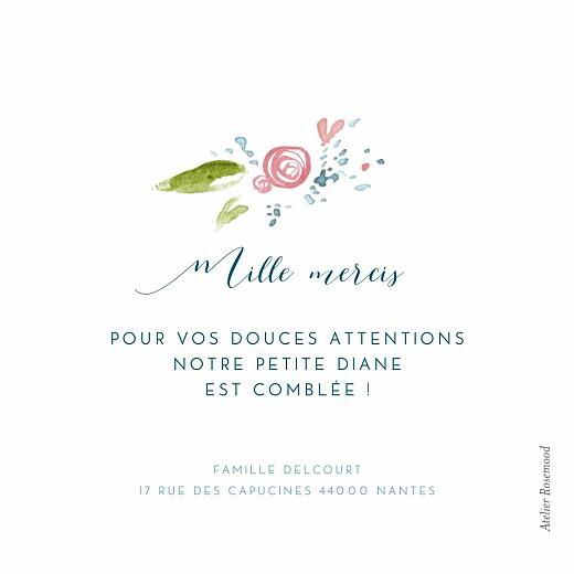 Carte de remerciement Petite journée de printemps blanc