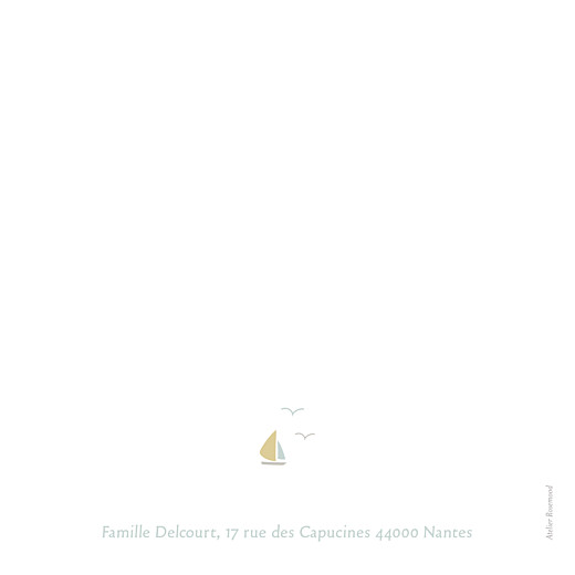 Faire-part de naissance Horizon photo vert d'eau - Page 4