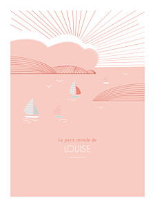 Affiche orange horizon corail