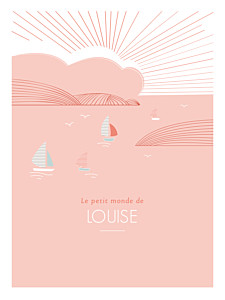 Affichette orange horizon corail