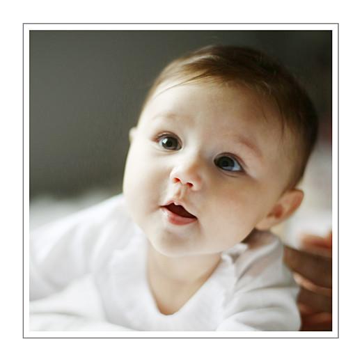Faire-part de naissance Horizon photo (dorure) blanc