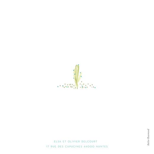 Faire-part de naissance Aquarelle végétale 3 photos bleu - Page 4
