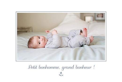 Faire-part de naissance Navy chic 1 photo bleu - Page 2