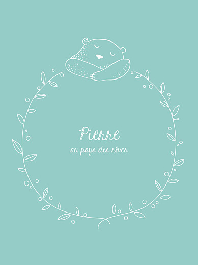 Affiche Petit ours bleu