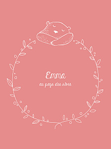 Affiche Petit ours rose