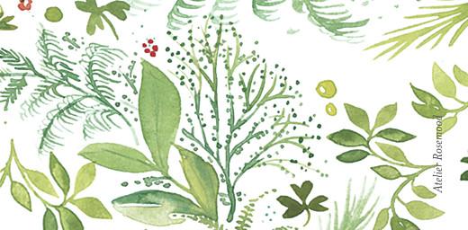 Marque-place mariage Murmure de forêt vert