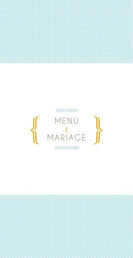 Menu de mariage Accolades (4 pages) bleu