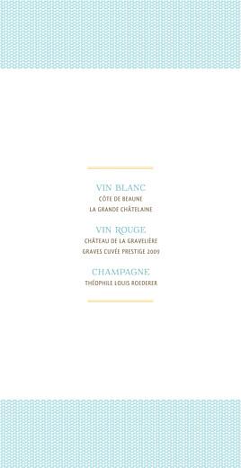 Menu de mariage Accolades (4 pages) bleu - Page 2