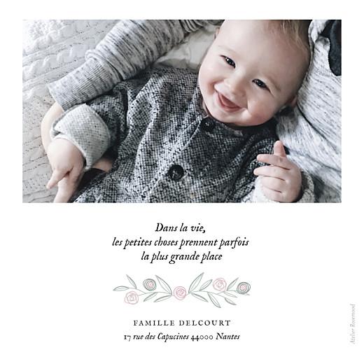 Faire-part de naissance Douceur champêtre photo rv blanc rose - Page 2