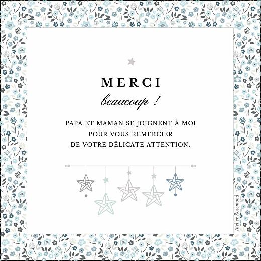 Carte de remerciement Petit liberty origami étoile bleu