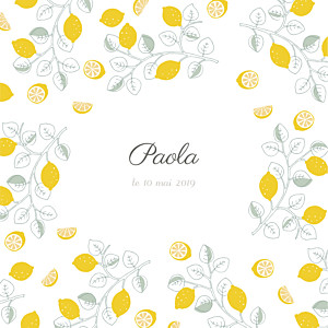 Faire-part de naissance mr & mrs clynk  citrons 3 photos jaune