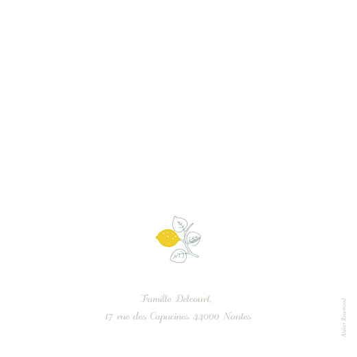 Faire-part de naissance Citrons 3 photos jaune - Page 4