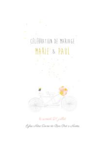 Livret de messe mariage Tandem rose ocre