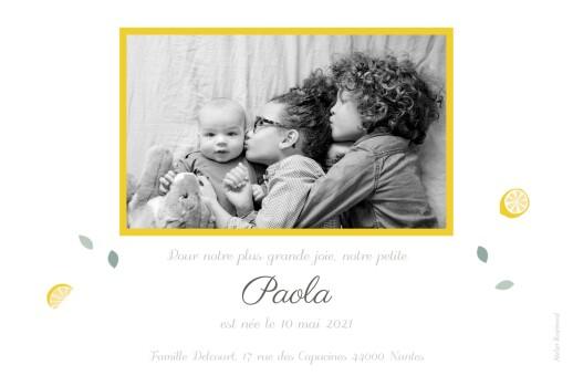 Faire-part de naissance Citrons 2 photos jaune - Page 2
