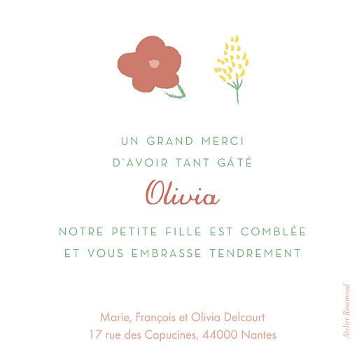 Carte de remerciement Petites fleurs pastel photo bleu nuit - Page 2