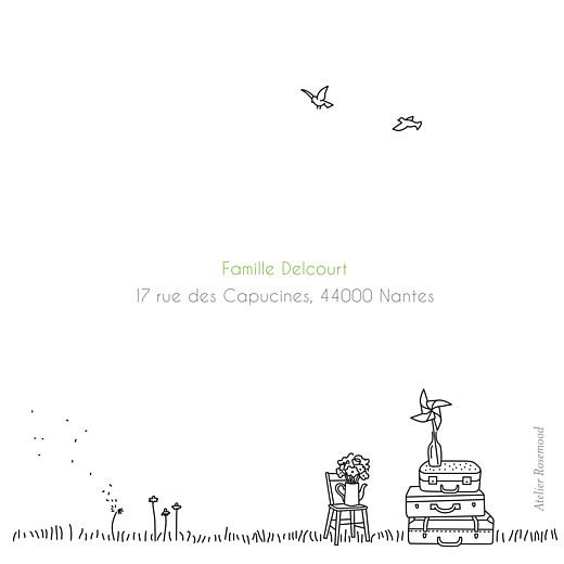Faire-part de naissance Promesse champêtre triptyque blanc - Page 5