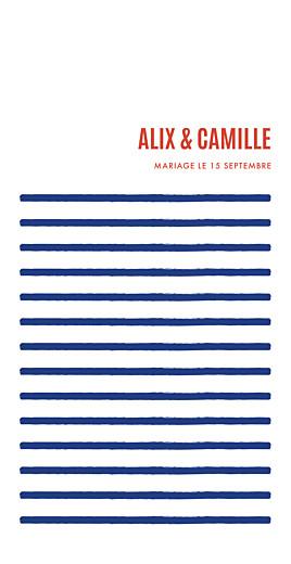 Menu de mariage Marinière (4 pages) bleu marine