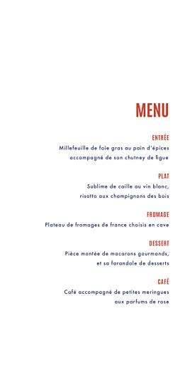Menu de mariage Marinière (4 pages) bleu marine - Page 3