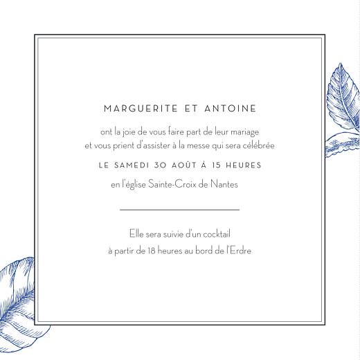 Faire-part de mariage Gravure chic (4 pages) bleu - Page 3