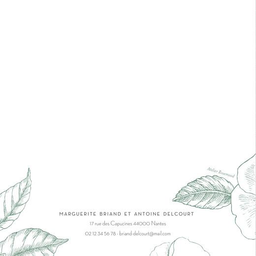 Faire-part de mariage Gravure chic (4 pages) vert - Page 4