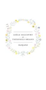 Menu de mariage Instant fleuri blanc