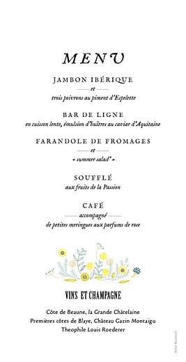 Menu de mariage Instant fleuri blanc - Page 2