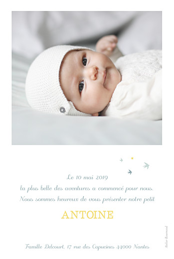 Faire-part de naissance Sunshine photo jade