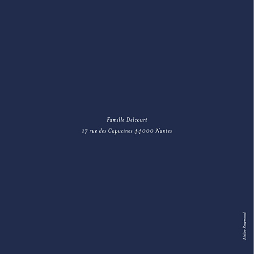 Faire-part de naissance Élégant feuillage photo dorure bleu nuit - Page 4