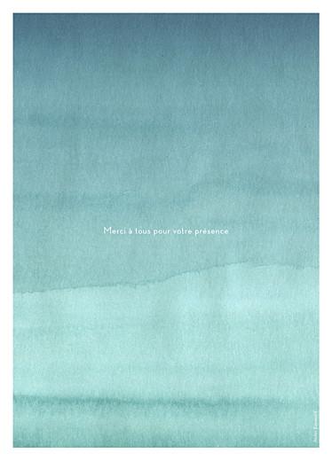 Livret de messe mariage Aquarelle bleu