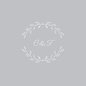 Carton d'invitation mariage gris poème gris