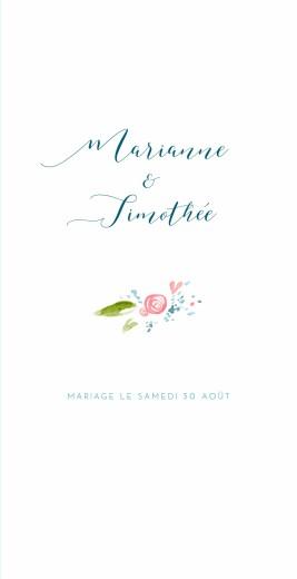 Menu de mariage Journée de printemps (4 pages) blanc