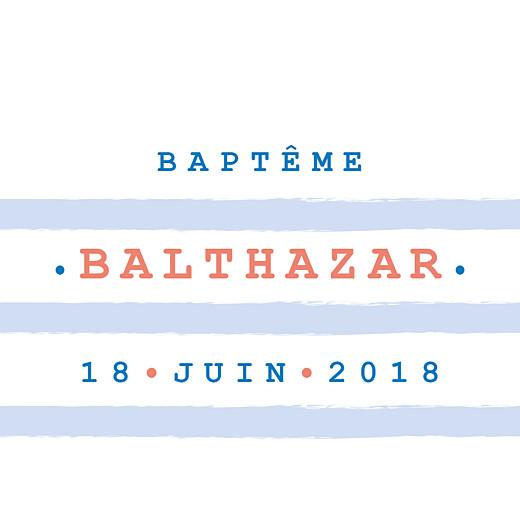 Etiquette de baptême Marinière bleu