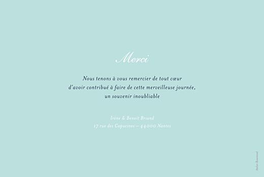 Carte de remerciement mariage Bleu de minuit bleu - Page 2