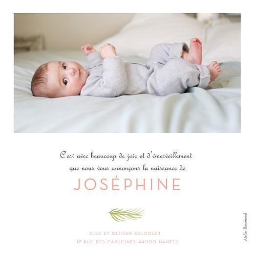 Faire-part de naissance Aquarelle végétale photo rose - Page 2