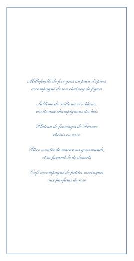 Menu de mariage Chic liseré (4 pages) bleu - Page 3