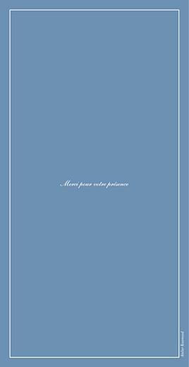 Menu de mariage Chic liseré (4 pages) bleu - Page 4