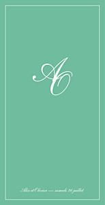 Menu de mariage Chic liseré (4 pages) vert