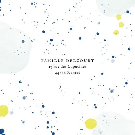 Faire-part de naissance Bulles d'aquarelle (triptyque) bleu-jaune - Page 3