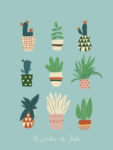 Affiche Cacti cactus bleu - Page 1