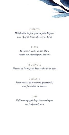 Menu de mariage Ombres florales (4 pages) bleu - Page 3