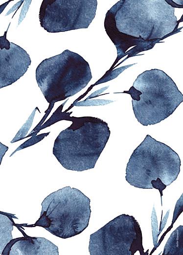 Livret de messe mariage Ombres florales bleu - Page 4
