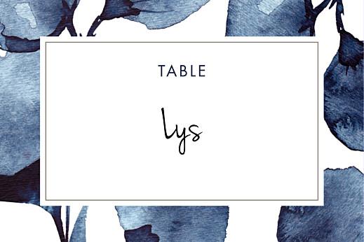 Marque-table mariage Ombres florales bleu