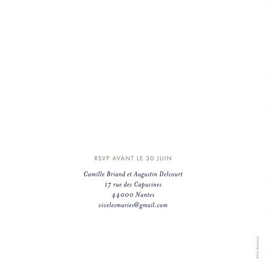 Faire-part de mariage Ombres florales bleu - Page 2