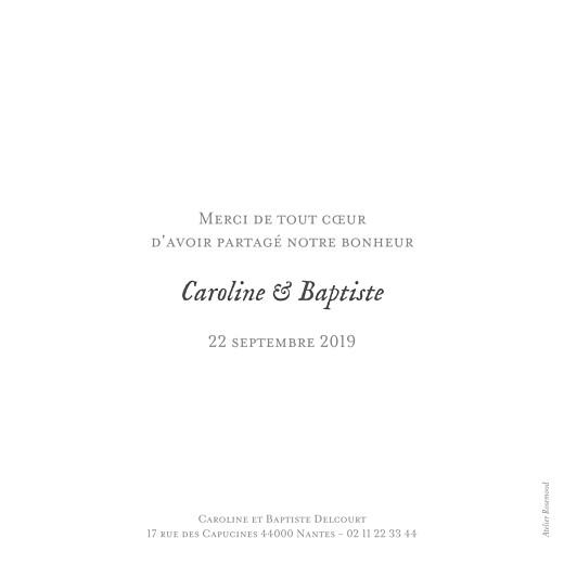 Carte de remerciement mariage Simple 8 photos (dorure) blanc - Page 2