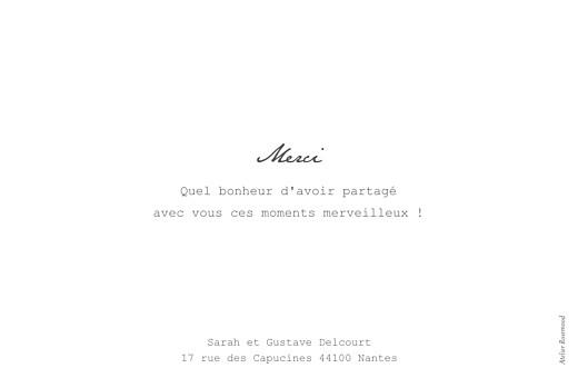 Carte de remerciement mariage Bandeau photo paysage (dorure) blanc - Page 2