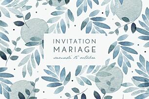 Carton d'invitation mariage Nuit d'été bleu