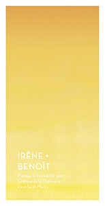 Menu de mariage Aquarelle (4 pages) jaune