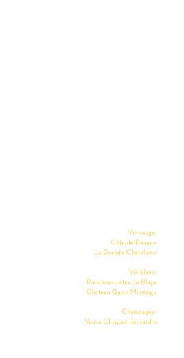 Menu de mariage Aquarelle (4 pages) jaune - Page 2